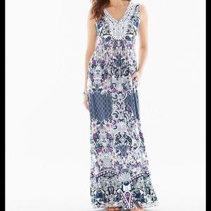 Soma Crochet Trim Maxi Dress Med NWT